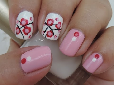 Nail Art - October in Pink - Second Design - Decoracion de Uñas