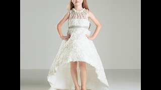 New collection of baby girl gown dresses ;Kids latest Western wear design dress