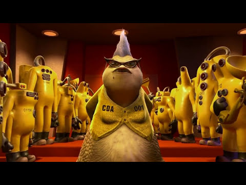 Monsters Inc - All Roz Scenes!