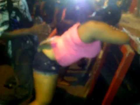 Jamaican girls partying on the street