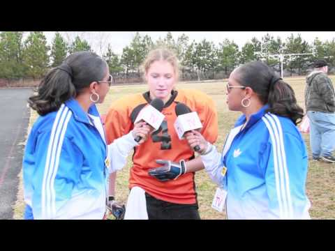 TwinSportsTV: Interview with female football player of the White Bluff Bombers 13U Team