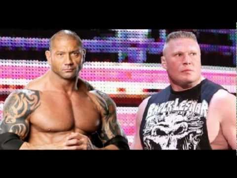 WWE BATISTA RETURNS and Helps Brock Lesnar Raw 2012 (Prediction)