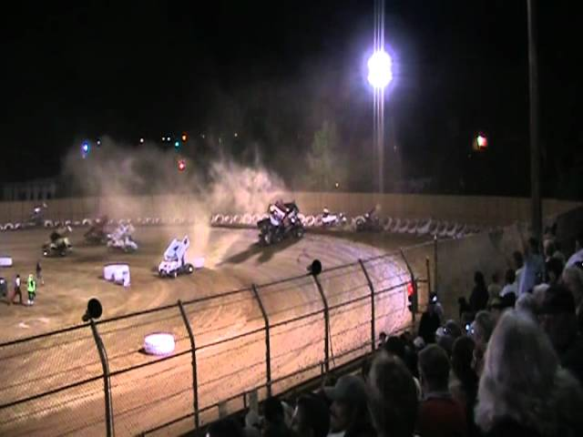 King of the West Sprint Car Pile Up @ Placerville Speedway 6/30/12