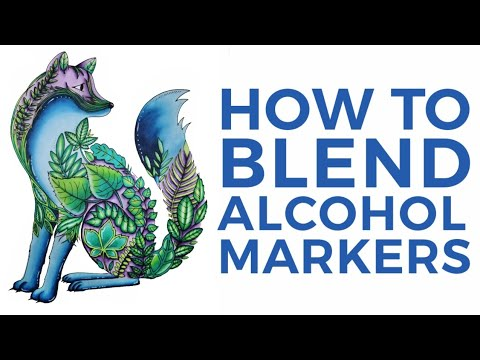 How to Blend with Alcohol Markers | Real Time Color Along using Twin Tip Magic Markers