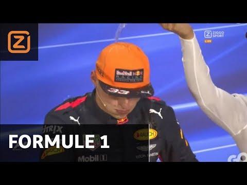 Max Verstappen krijgt nat pak in persconferentie | GP Maleisië 2017