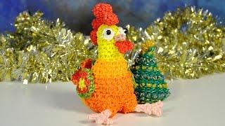 DIY COCK crochet loomigurumi amigurumi - Crafts for kids COCK OWN HANDS