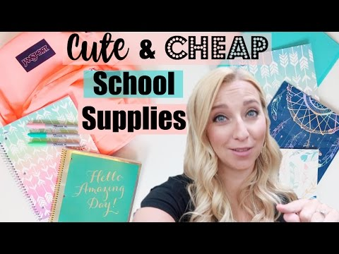 Back to School Shopping 2016: Cute & Cheap School Supplies at Walmart!