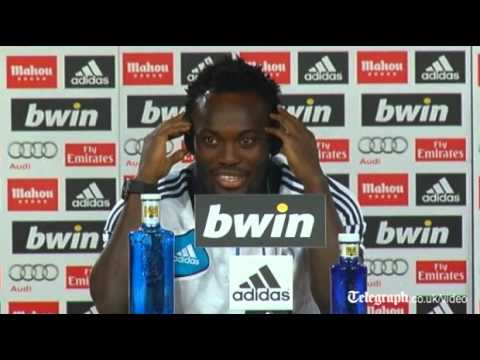 Michael Essien repeatedly calls Jose Mourinho 'daddy' at Real Madrid unveiling