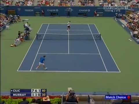 [HL] Marin Cilic vs. Andy Murray 2009 US Open [R4]