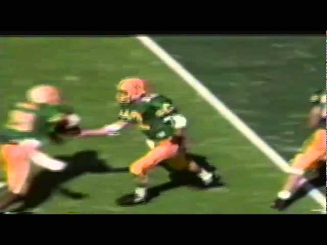 Oregon RB Sean Burwell 10 yard run vs. New Mexico State 10-05-91