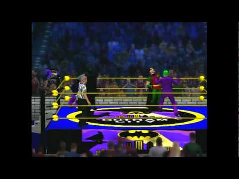 West Coast Caws WWE 12 Batman and Robin vs Joker and Penguin