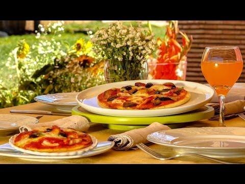 Choumicha : Pizza au poulet, champignons et poivrons شميشة : بيتزا بالفطر الأبيض والدجاج