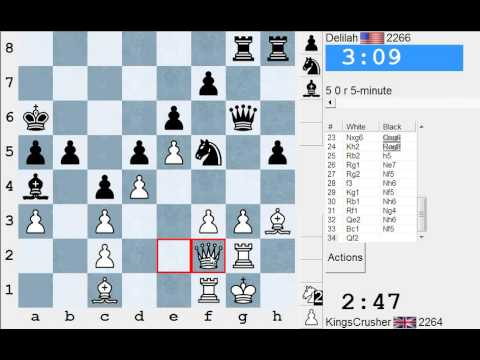 Chess World.net: Blitz #1935 vs Delilah - French: Winawer, advance (C19)