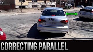 Parallel Parking (Curb Parking) - How To Correct Yourself