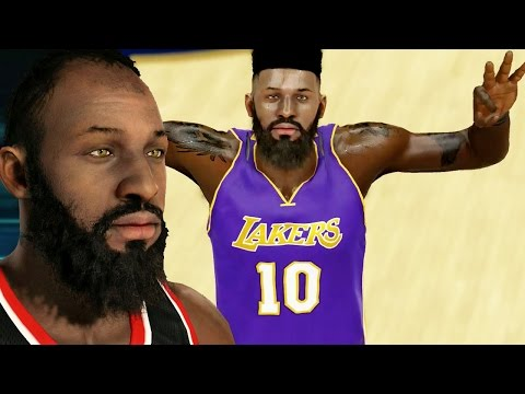 NBA 2k15 MyCAREER Gameplay S2 - FACECAM Bridges with LeBron's Hair Cut - Attributes & Badges Updated