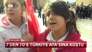 7'den 70'e Türkiye Ata'sına koştu