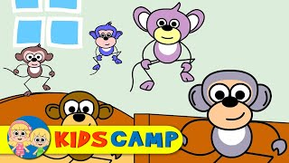 Five Little Monkeys | Nursery Rhymes | Popular Nursery Rhymes by KidsCamp
