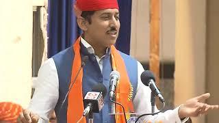 Udaipur: Union Mininster Rajyavardhan Rathore addresses gathering at Maharana Pratap Jayanti Samaroh