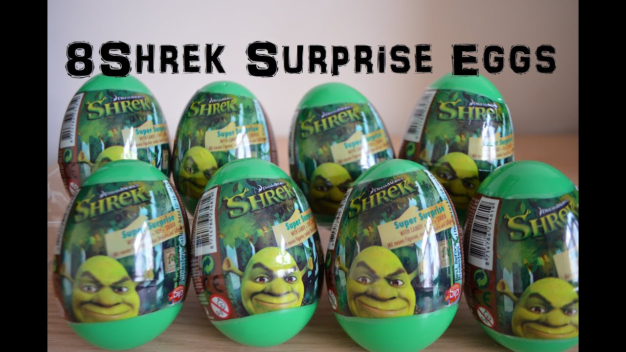 8 Shrek Toy Surprise Egg Unboxing Amazing Figures