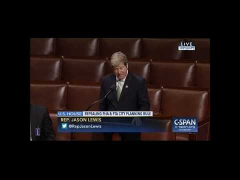 Rep. Lewis manages time on House Floor in support of bipartisan transport planning bill