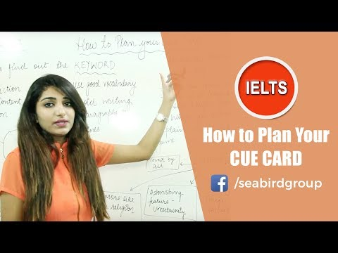 How to plan your Cue Card   Seabird International