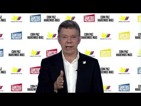 Mensaje Juan Manuel Santos a los cristianos y cristianas de Colombia