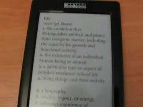 Demonstration clip of the Eink based ebook reading device from Bookeen: the Cybook Gen3.