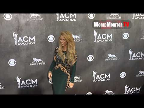 SHAKIRA Arrives at 49th Annual Academy Of Country Music Awards Redcarpet Music Videos