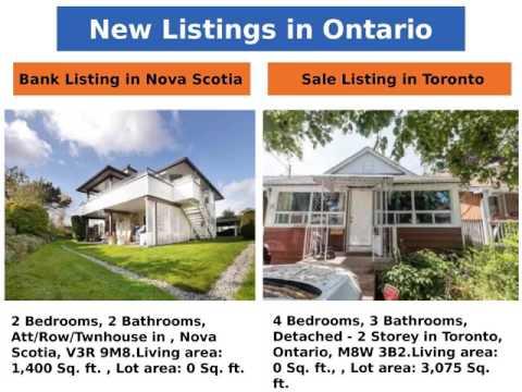 New Listings in Ontario