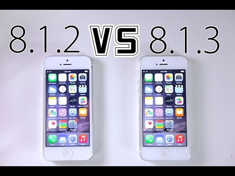 iOS 8.1.2 VS iOS 8.1.3 - Faster? WiFi Fixed? + What's New Review