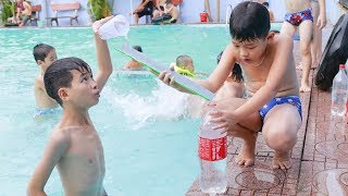 Kids Go to Pool Competition Swimming Move Water Cup Team Games at Pool w/ Song For Children