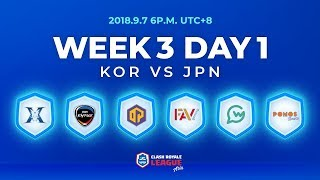 Clash Royale League Asia Season2 - Week 3 Day 1