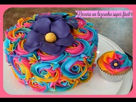 Bizcocho videolike for Como decorar una torta facil y economica