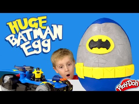 Batman Kinder Play-Doh Surprise Egg with DC Superhero Batman Toys Unboxing by KID CITY