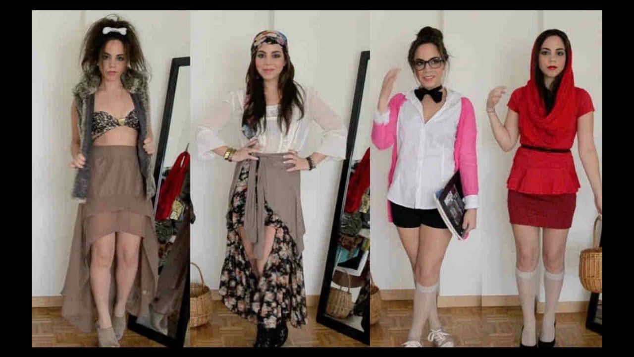 4 disfraces con ropa de tu closet youtube - Platos originales y faciles de hacer ...