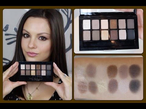 Review & Demo   Maybelline The Nudes Palette