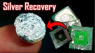 "silver recovery from IC bga chips ""How to make silver"""