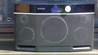 Aiwa Exos-9 - loudness test (how to annoy the whole neighbourhood)