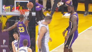 LeBron James Wanna Murder Nemanja Bjelica With Dunk Then Stare Down! Lakers vs Kings 2019 NBA Season