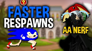 Faster Monster Respawns! Glitched Rooms Patched. AA and VL Nerf AQW