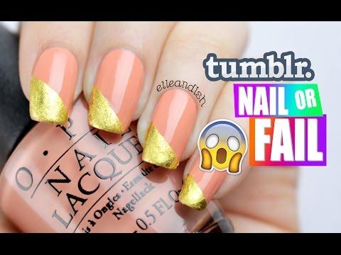 ▲ tumblr NAIL or FAIL: DIY GOLD LEAF NAILS ▲