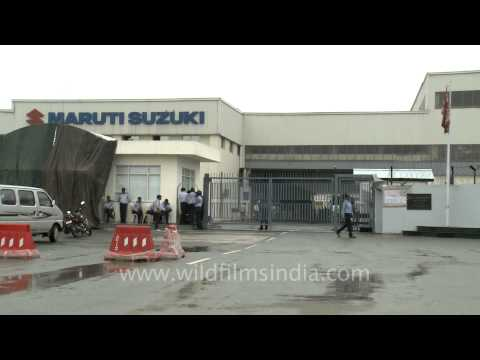 Maruti factory in Manesar: all painted and glossed over after the riot and fire!