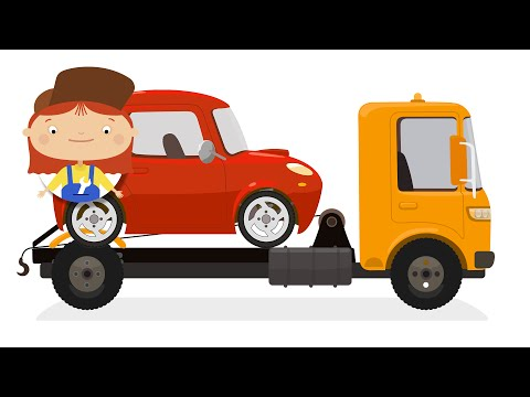 CAR DOCTOR! Kid's Cartoons.Tow Truck Rescue! Doc McWheelie rescues a broken Tow Truck!