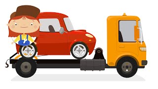 Kids Cartoons. Car doctor helps tow truck