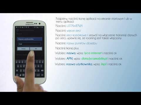Lycamobile Polska - Ustawienie Internetu W Telefonie: Samsung