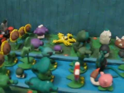 Plantas Vs Zombies De Plastilina Youtube