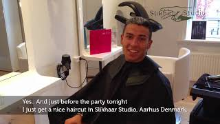 Cristiano Ronaldo Hairstyle 2012- Behind the scenes, iphone 5 Video Quality.