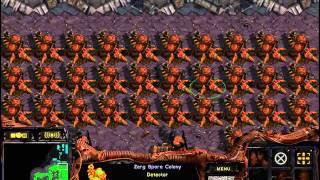 스타크래프트 빨무 1:1 저그.. 만리장성 스포어 센터 성큰 스포어...후..; (starcraft brood war fastest map 1vs1 zerg play)