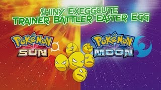 Pokemon Sun and Moon - EASTER EGG SHINY EXEGGCUTE?!?  30,000 EASY MONEY!