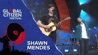 Shawn Mendes Performs Youth With John Legend Global Citizen Festival Nyc 2018